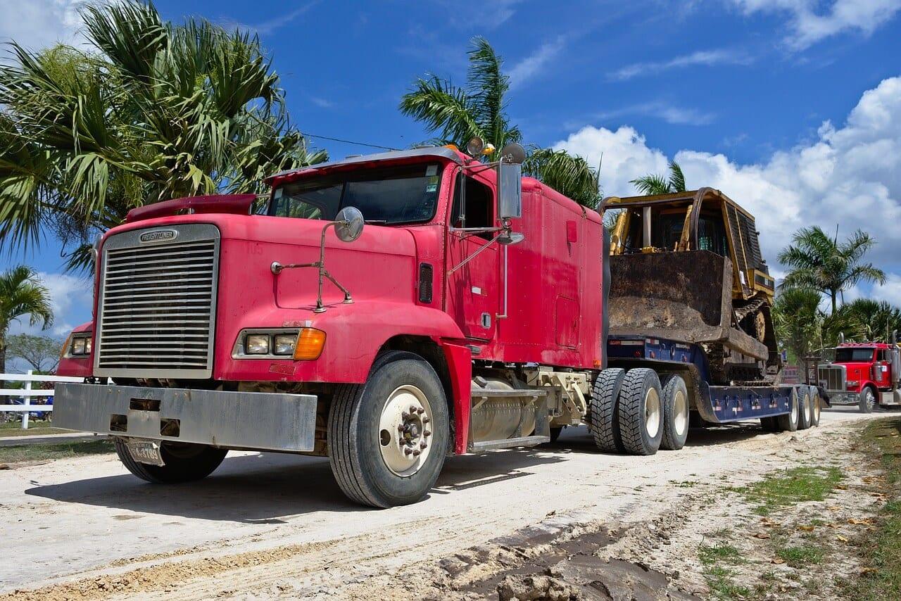 Bulldozer Transportation bulldozer transportation