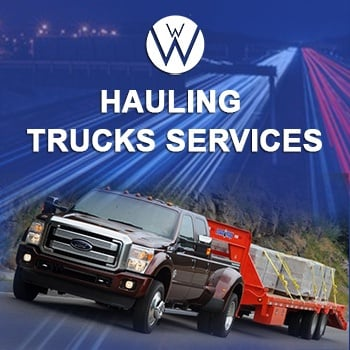 Hauling Trucks, we will transport it hauling trucks
