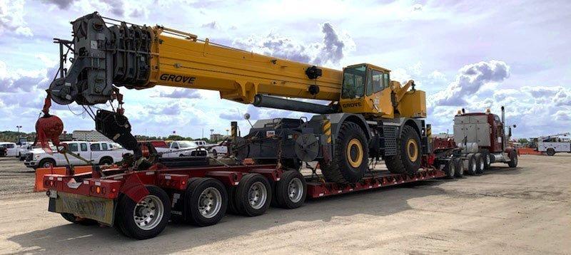 Heavy Equipment Shipping from NY to Ca