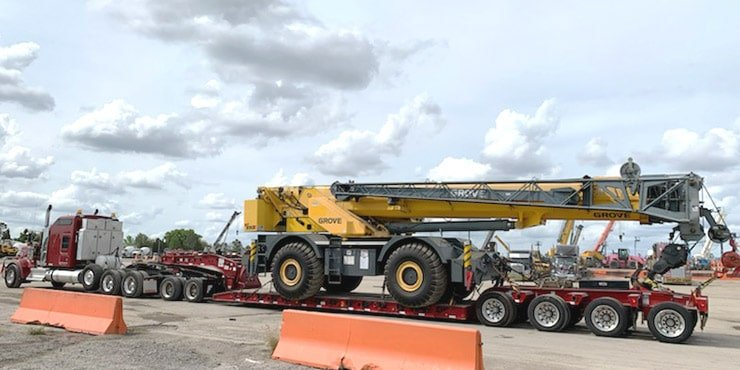 Heavy Equipment Shipping from NY to Ca