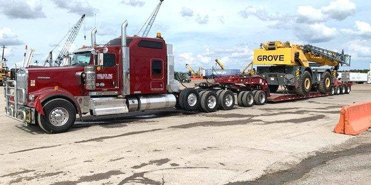 Heavy equipment shipping from NY to FL