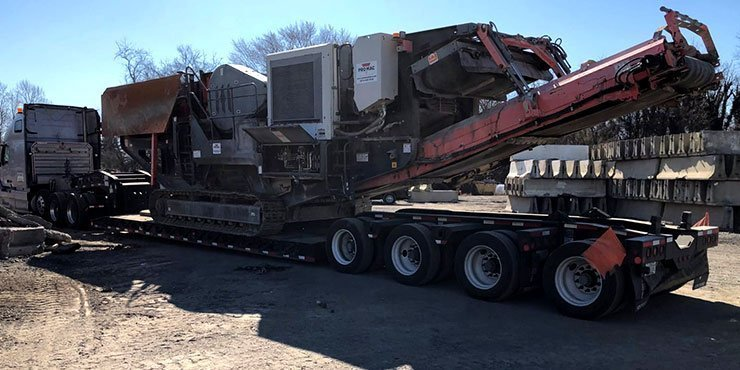 Heavy equipment shipping from NY to OH