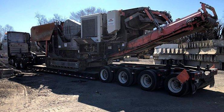 Heavy equipment shipping from NY to OH