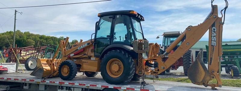 International oversize equipment transport, Hauling construction equipment