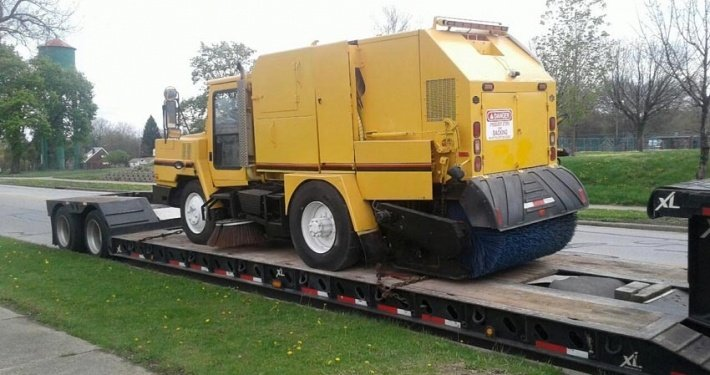 Street Sweeper Truck Transportation, we will transport it vehicle transport company vehicle transport company