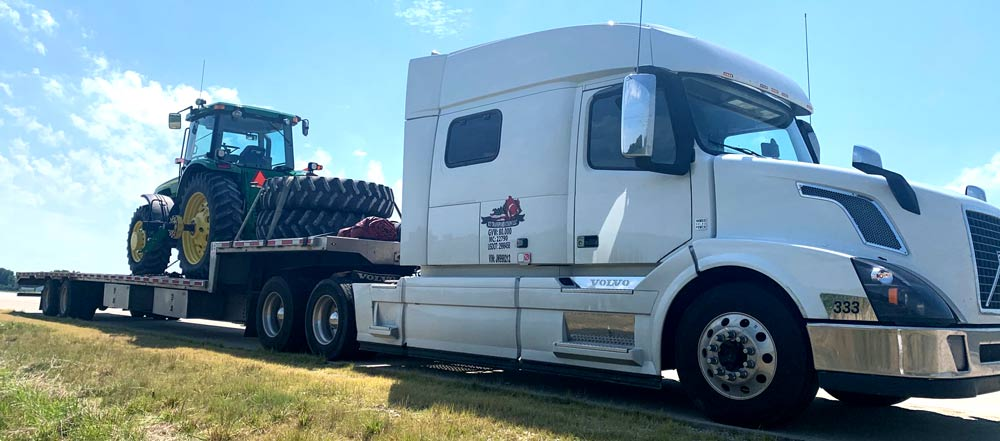 Tractor Shipping and Hauling Company, Tractor transport services