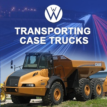Transporting Case trucks and equipment, we will transport it