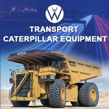 Transporting Caterpillar Equipment, we will transport it