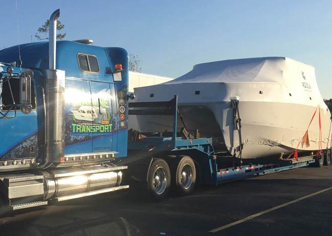 Transporting a boat with the best boat transport Company