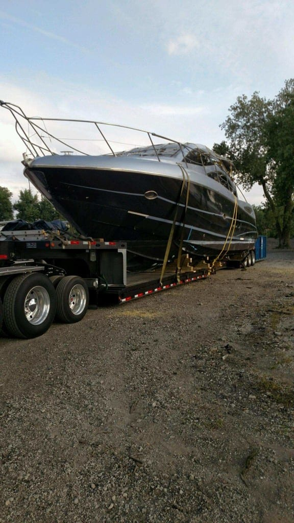 preparing for boat transport
