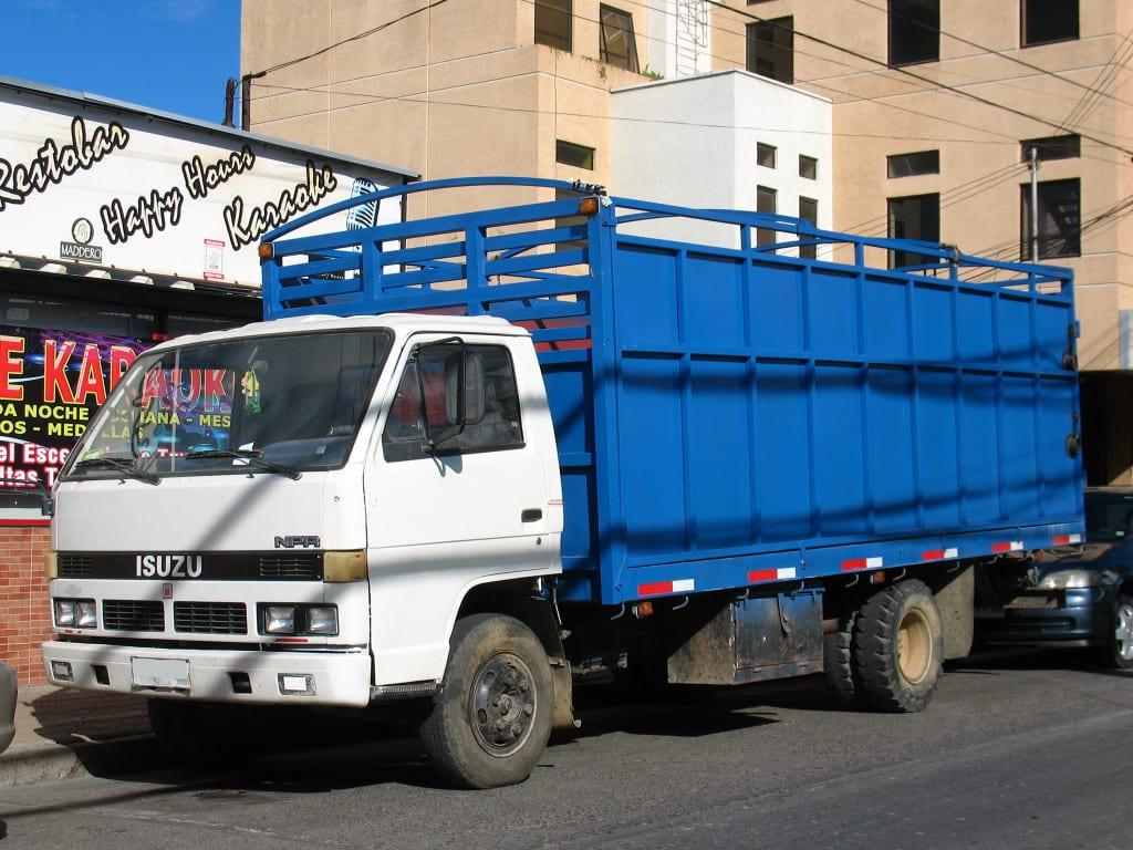 hauling isuzu npr trucks