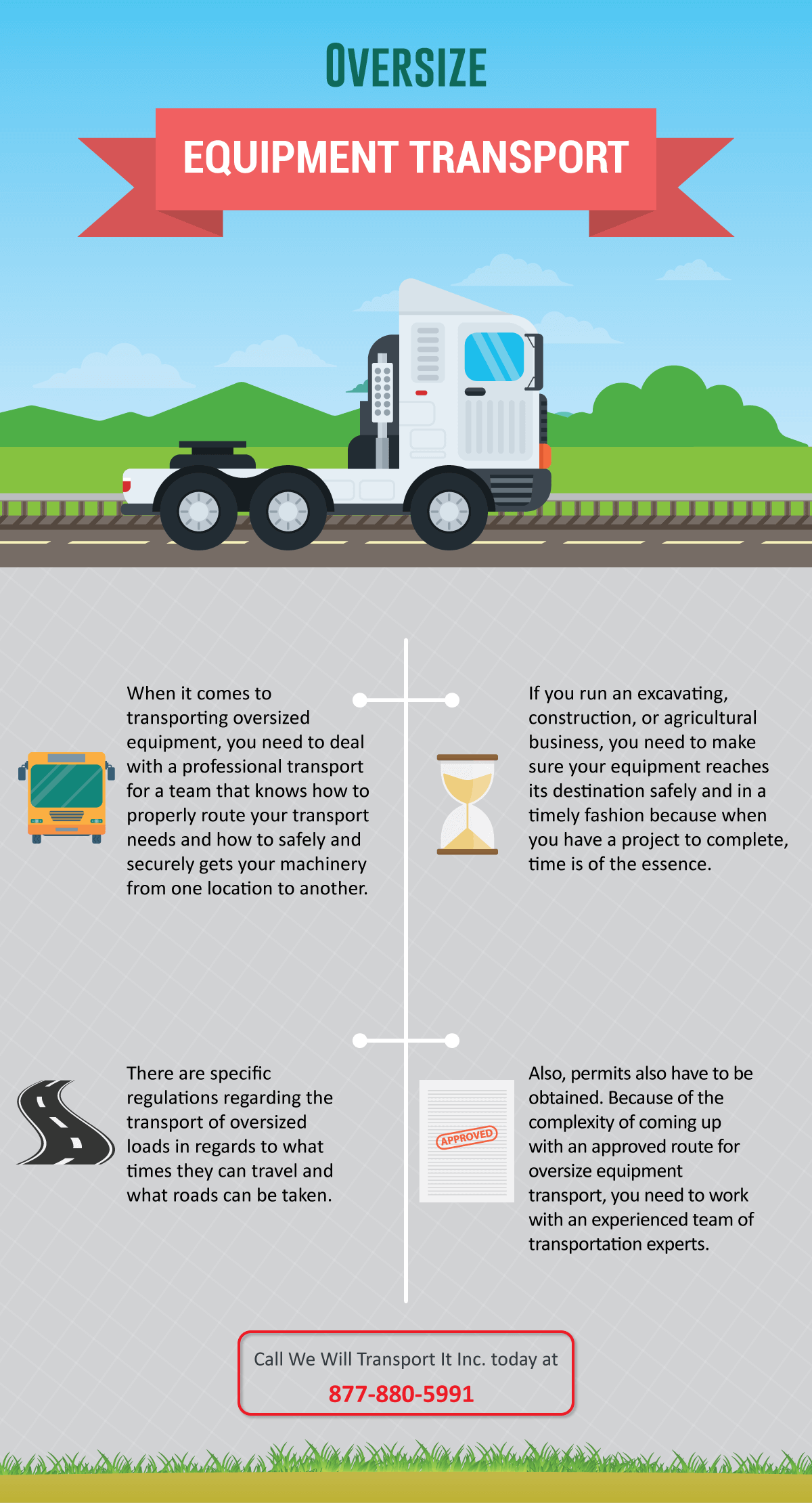 oversize equipment transport infographic