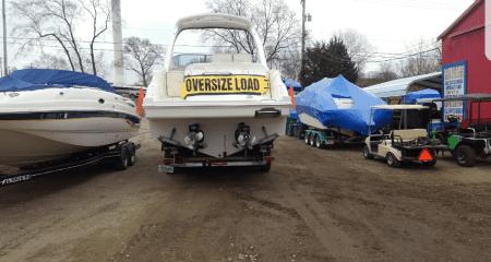 preparing a boat for transport