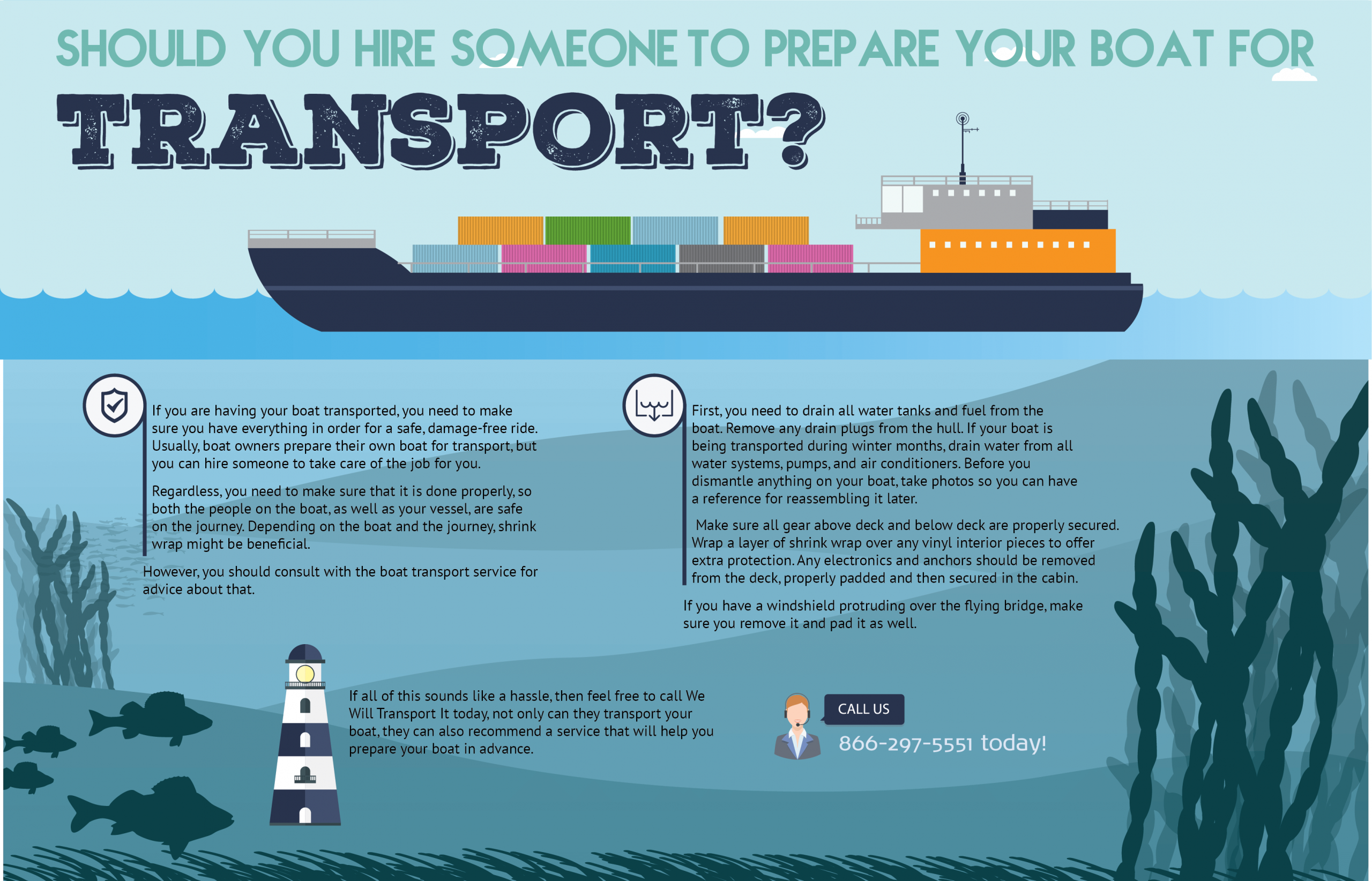 should you hire someone to prepare your boat for transport