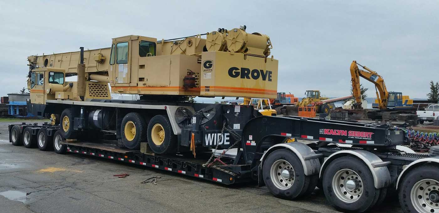 We will transport it, oversized equipment transportation vehicle shipping