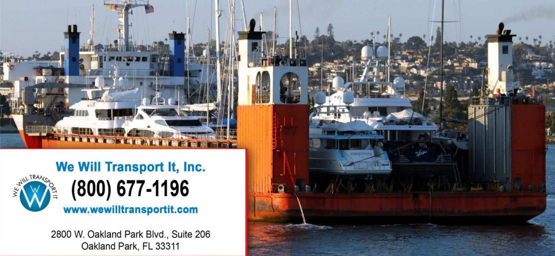 We will transport it, yacht transportation